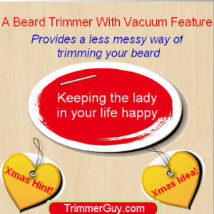 beard trimmer with vacuum